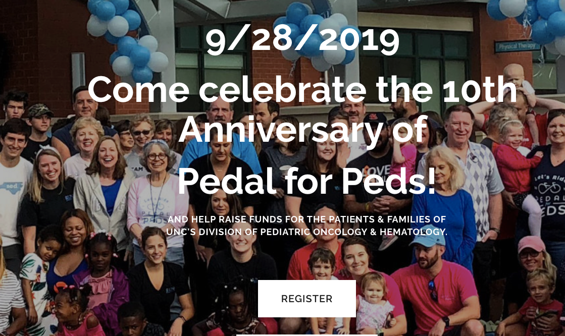 PEDAL FOR PEDS - CELEBRATING OUR 10TH ANNIVERSARY 9/28/2019!