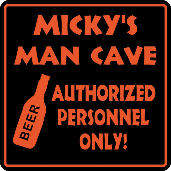 Personalized Custom Name MAN CAVE Bar Beer Den Garage Funny Sign #4