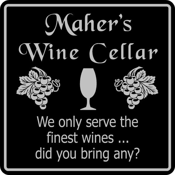 Personalized Custom Name Wine Cellar  Bar Pub Wall Family Gift Sign #12