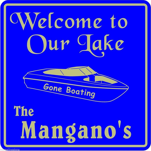 Personalized Custom Name Welcome To Our Lake Home Nautical Marine Gift Sign  #8