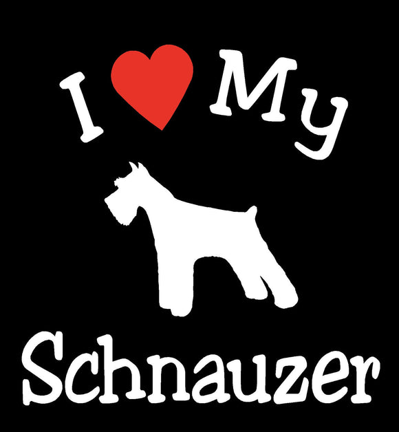 I LOVE MY DOG SCHNAUZER PET CAR DECALS STICKERS GIFT