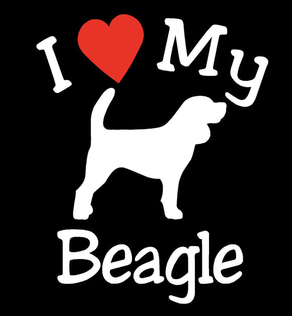NEW I LOVE MY DOG BEAGLE PET CAR DECALS STICKERS GIFT