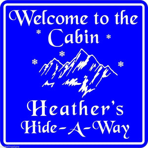 Personalized Custom Name Welcome To Cabin Home Lodge Gift Sign  #7 Free Shipping