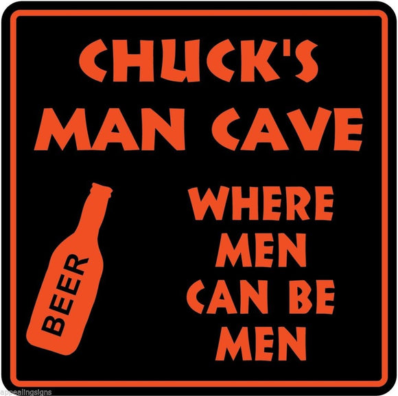 Personalized Custom Name MAN CAVE Bar Beer Den Garage Funny Sign #9