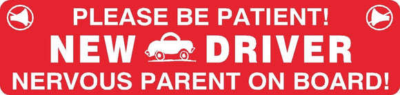 New Driver Nervous Parent Magnet Sign Car Truck School Teen Student  #18