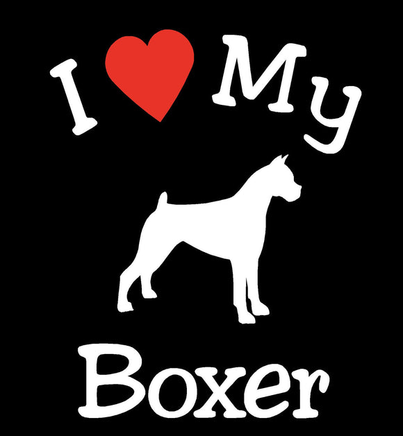 DOG BOXER PET CAR DECALS STICKERS