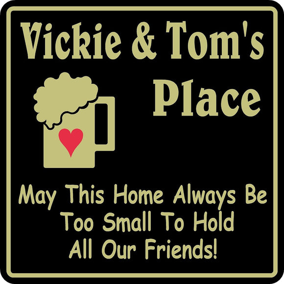 New Personalized Sign Custom Name Home Decor Family Bar Pub Gift #37