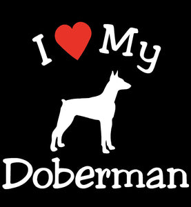 NEW I LOVE MY DOG DOBERMAN PET CAR DECALS STICKERS GIFT