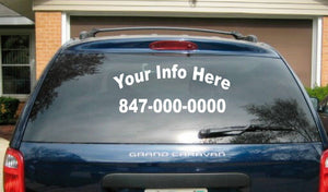 (1) 2 Line Back (2) 2 Line Side Truck Car Vehicle Custom Auto Decal