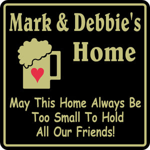 New Personalized Sign Custom Name Home Decor Family Bar Pub Gift #38