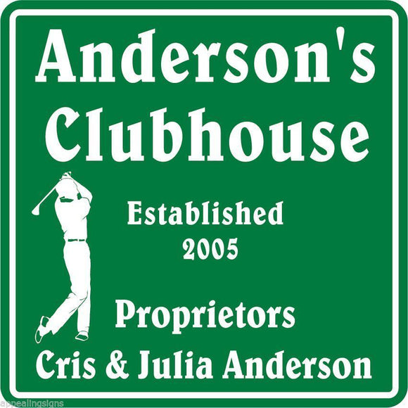New Personalized Custom Name Golf Golfing golfer Clubhouse Gift Bar Sign #1