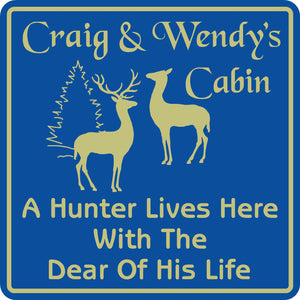 New Personalized Name Hunter Sign Hunting Home Cabin Wall Decor Plaque #1