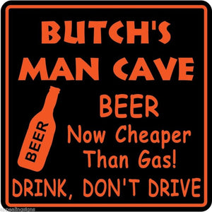 Personalized Custom Name MAN CAVE Bar Beer Den Garage Funny Sign #10
