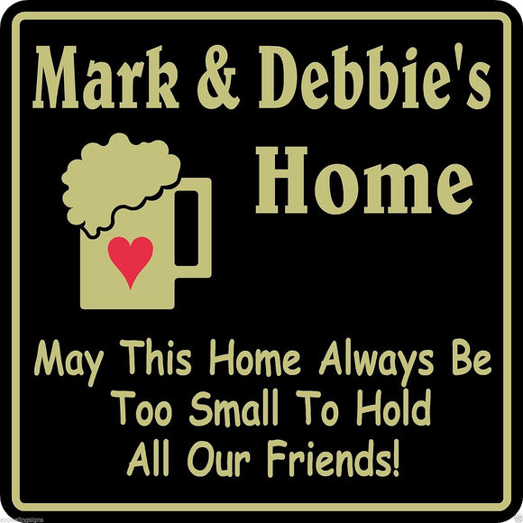 New Personalized Home Decor Sign Custom Name Family Bar Pub Gift #38