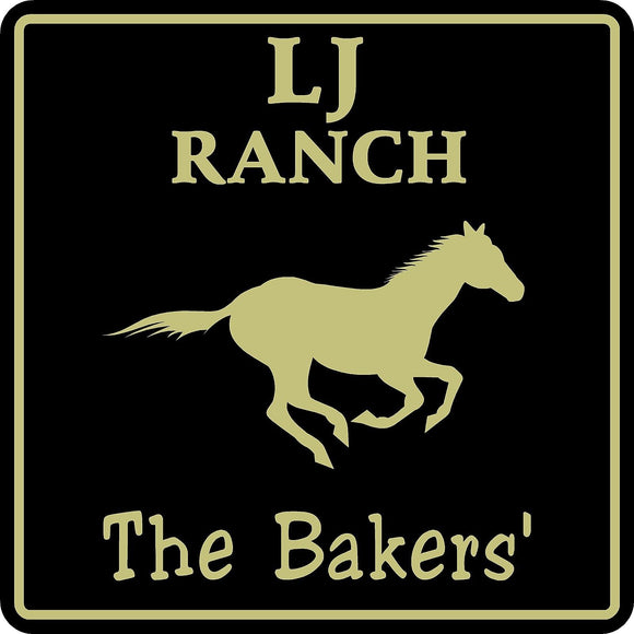 Personalized Custom Name Horse Stable Barn Ranch Farm Equestrian Sign #5