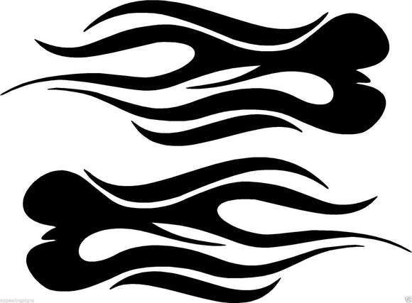 (2) Vinyl Vehicle Graphics Decals Stickers Flames #1 Custom Auto Truck Colors