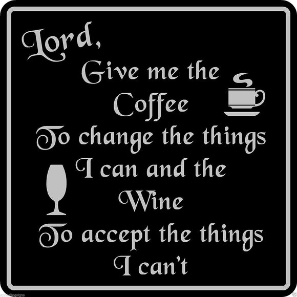 Custom Wine Coffee Sign Bar Pub Wall Decor Home Family Gift Black  #18