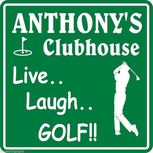New Personalized Custom Name Golf Golfing Golfer Clubhouse Gift Bar Sign #5