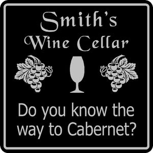 Personalized Custom Name Wine Cellar Tasting  Bar Pub Wall Family Gift Sign #16