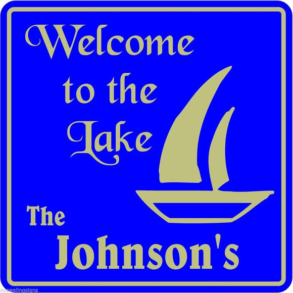 Personalized Custom Name Welcome To  Lake Home Nautical Marine Gift Sign  #4
