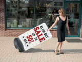 Tip 'N Roll Changeable Deluxe Rolling Message Board Sidewalk Sign Street Curb WH