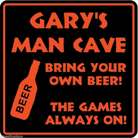 Personalized Custom Name MAN CAVE Bar Beer Den Garage Funny Sign #5