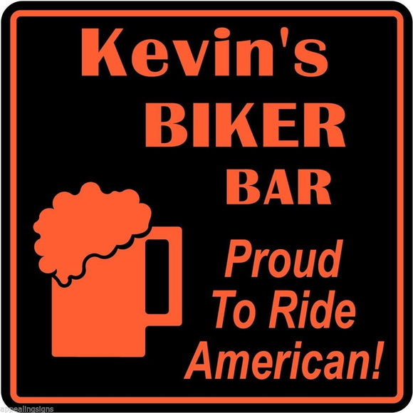 Personalized Custom Name Motorcycle Ride American Beer Bar Gift Sign #9
