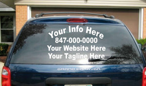 (1) 4 Line Back (2) 4 Line Custom Side Truck Car Vehicle Auto  Decal