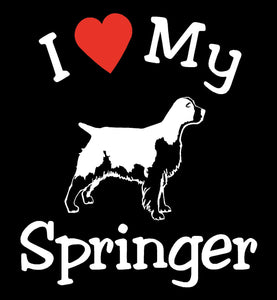 NEW I LOVE MY DOG SPRINGER PET CAR DECALS STICKERS GIFT