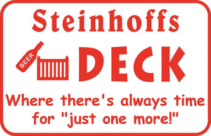 Personalized Custom Name Deck Patio Yard Outdoor Metal Sign Gift #1 Free Ship