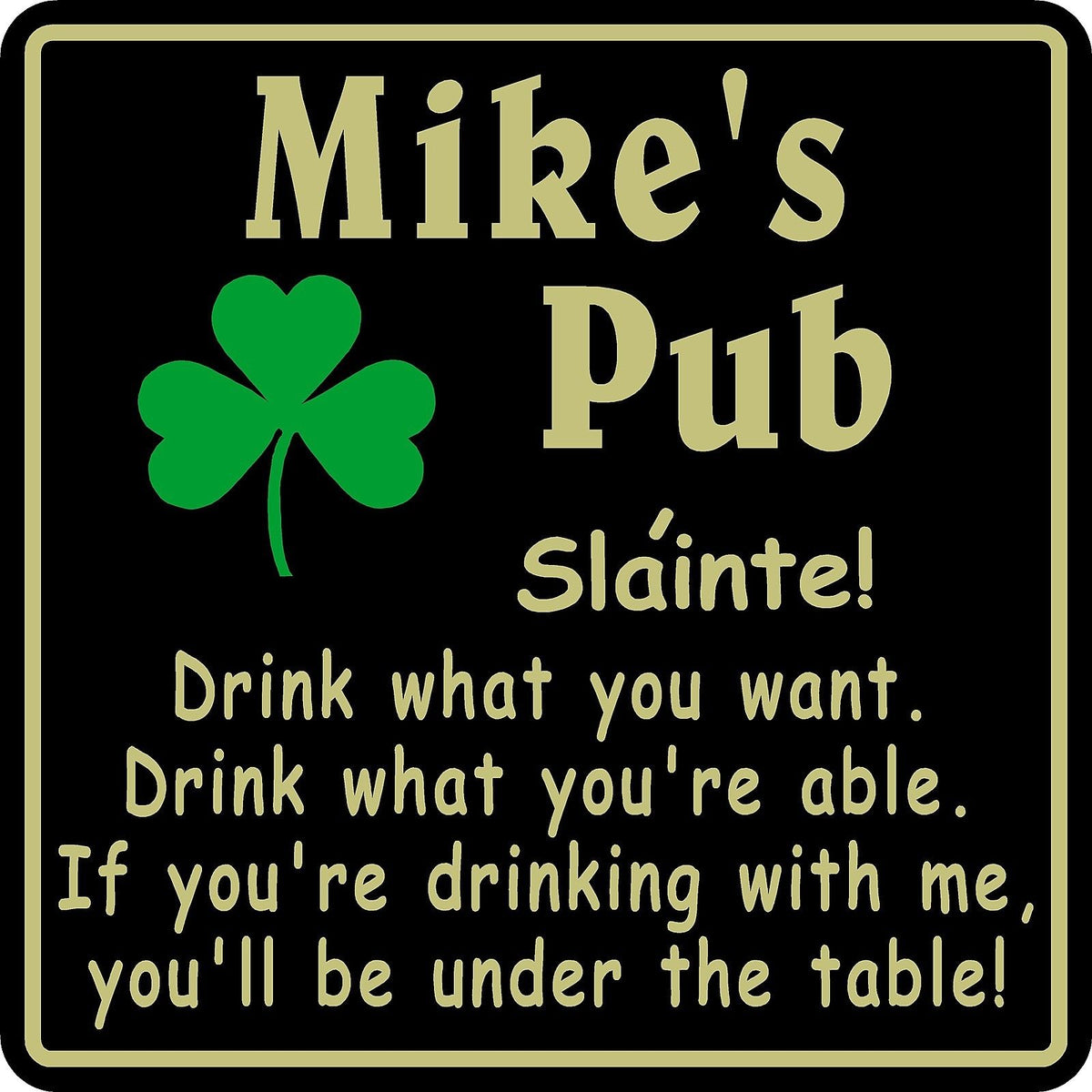 New Personalized Custom Name Irish Pub Bar Beer Home Decor Gift Plaque Appealing Signs