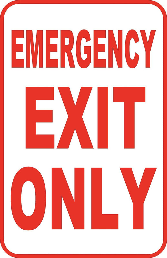 Emergency Exit Custom Sign Large 12