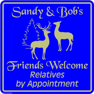 New Personalized Custom Name Welcome Home House Friends Relatives Wall Sign #4