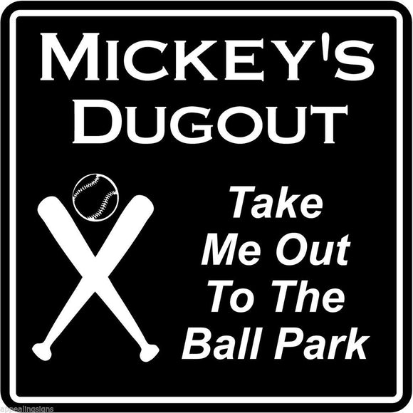 New Personalized Custom Name Baseball Dugout Bar Gift Sign #3