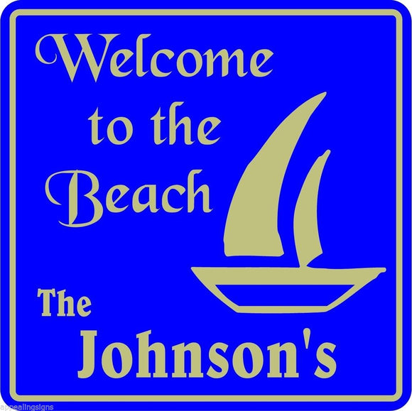 Personalized Custom Name Welcome To Beach Home Nautical Marine Gift Sign  #5