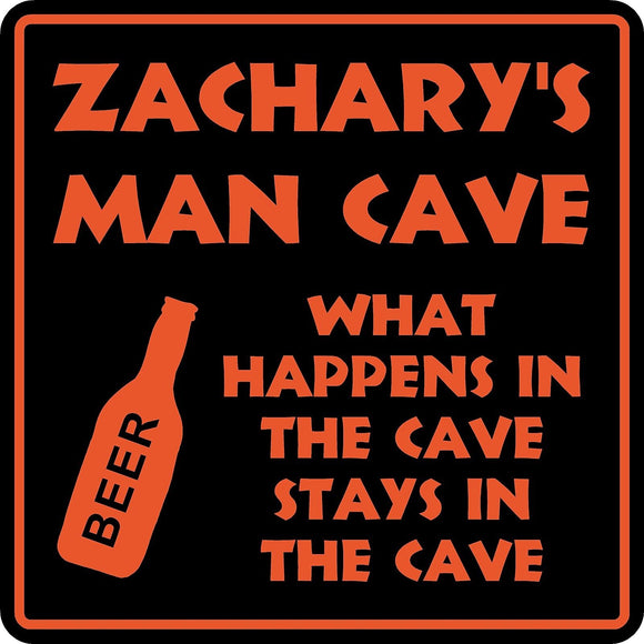 Personalized Custom Name MAN CAVE Bar Beer Den Garage Funny Sign #3