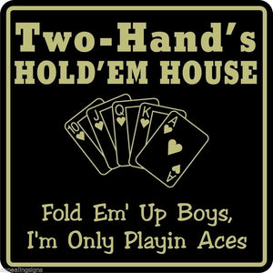New Personalized Name Sign Poker Game Room Bar Beer Cards Holdem Gift Sign #13
