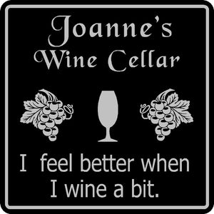 Personalized Custom Name Wine Cellar Tasting  Bar Pub Wall Family Gift Sign #13