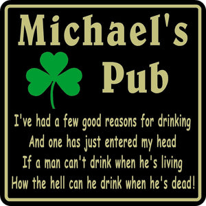 New Personalized Custom Name Irish Pub Bar Beer Home Decor Gift Plaque Sign #15