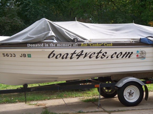 Custom Speed Pontoon Sail Boat RV Name Vinyl Letters 6