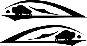 (2) Vinyl Vehicle Graphics Decals Tribal #3 Buffalo Custom Auto Truck Colors