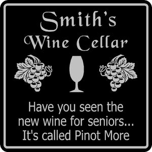 Wine Cellar Sign Personalized Custom Name Tasting  Bar Pub Wall Family Gift #15