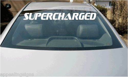 SUPERCHARGED Vehicle Car Truck Vinyl Graphics Decal 40