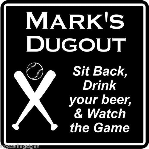 New Personalized Custom Name Baseball Dugout Bar Gift Sign #2