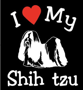 NEW I LOVE MY DOG SHIH TZU PET CAR DECALS STICKERS GIFT