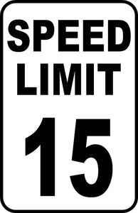 "Speed Limit Sign Choose Your Speed 12"" x 18"" Aluminum Metal Street Road #48"