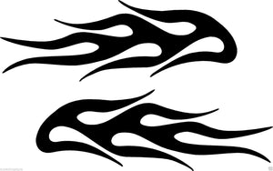(2) Vinyl Vehicle Graphics Decals Stickers Flames # 4 Custom Auto Truck Colors
