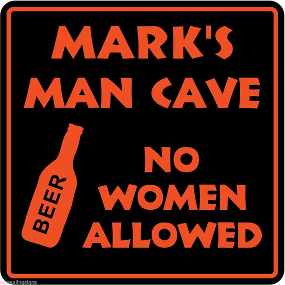Personalized Custom Name MAN CAVE Bar Beer Den Garage Funny Sign #6