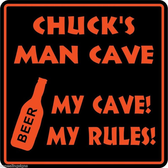 Personalized Custom Name MAN CAVE Bar Beer Den Garage Funny Sign #7