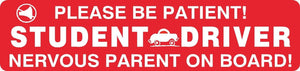 Student Driver Nervous Parent Magnet Sign Car Truck Teen School #10